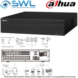 Dahua XVR5832S-X: 32CH 4K Pentabrid. HDCVI / IP. No Hard Drives Included.