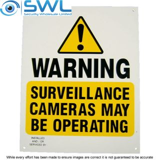 Large CCTV Video Warning Sign 24cm x 30cm