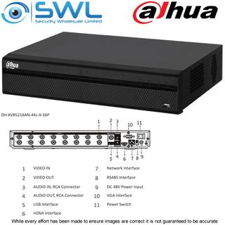 Dahua XVR5216AN-4KL-X: 16CH 4K Pentabrid. HDCVI/ IP. No Hard Drives Included