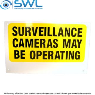 Small CCTV Video Warning Sign 24cm x 15cm