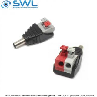 2.1mm DC Plug Push Pin Terminals 12VDC