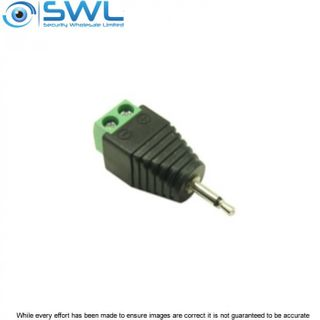 Male 3.5mm Mono Connector to Terminal Block