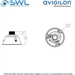 Avigilon Pendant Mount Adaptor NPT For 2.0C-H4IRPTZ-DP30-WP PTZ