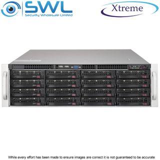 Xtreme NVR OS 240Gb SSD. 16x 8Tb, 112Tb After RAID 6, 2x 10GbE NICs, 400 Mbps