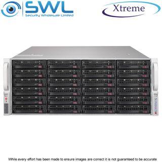Xtreme NVR OS 240Gb SSD. 24x 10Tb, 220Tb After RAID 6, 2x 10GbE NICs, 400 Mbps