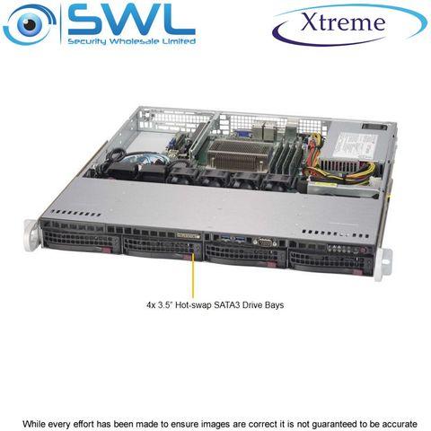 Xtreme NVR OS 128Gb SSD. 4x 10Tb, 30Tb After RAID 5, 2x 1GbE NICs, 400 Mbps