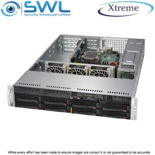 Xtreme NVR OS 128Gb SSD. 8x 10Tb, 70Tb After RAID 5, 2x 10GbE NICs, 400 Mbps