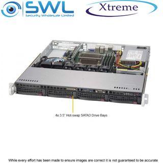 Xtreme NVR OS 128Gb SSD. 4x 4Tb, 12Tb After RAID 5, 2x 1GbE NICs, 400 Mbps