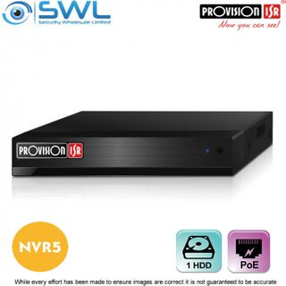 Provision-ISR NVR5-4100PX+(MM) 4CH NVR, 4x PoE, 1x HDD. No Hard Drive Included.
