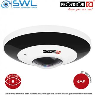 Provision-ISR FEI-360IP5 IP 360° Fisheye 6Mp, DWDR, IR 15m, IP66, IK10, 1.07mm