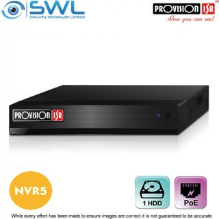 Provision-ISR NVR5-8200PX+(MM) 8CH NVR, 8x PoE, 1x HDD. No Hard Drive Included.