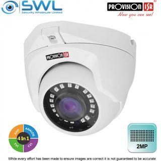 Provision-ISR DI-390A28 2Mp AHD (4 in 1) Turret 3D-DNR IR15m IP66 2.8mm