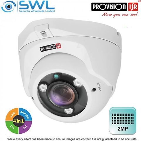 Provision-ISR DI-390AU-MVF+ 2Mp AHD (4 in 1) Turret WDR IR25m IP66 2.8-12mm