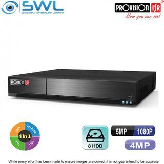 Provision-ISR SH-32400A-5(2U) 32CH Hybrid DVR 32x AHD +4CH IP 8x HDD. No HDD inc