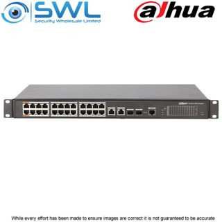 Dahua PFS4226-24ET-240, 24 Port PoE Switch +2 Combo Ports & 2SFP 240W
