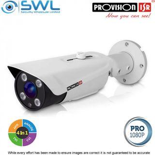 Provision-ISR I4-390AMVF 2Mp AHD (4 in 1) Bullet IR 40m IP66 2.8-12mm