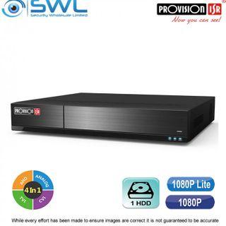 Provision-ISR SH-8100A-2L(MM) 8CH Hybrid DVR 8x AHD + 1CH IP 1x HDD. No HDD inc