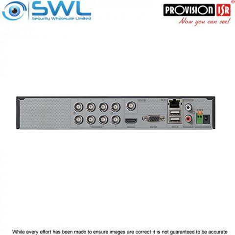 Provision-ISR SH-8100A5-8L(1U) 8CH Hybrid DVR 8x AHD +8CH IP 2x HDD. No HDD inc