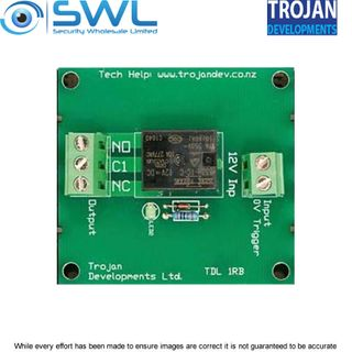 Trojan TDL 1RB – Single Relay Board 12VDC 8 Amp (SPDT)