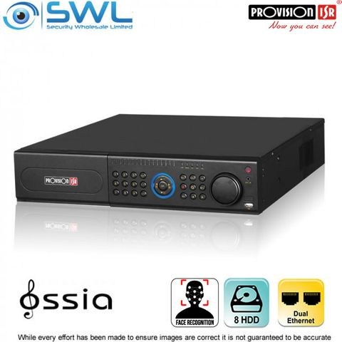 Provision-ISR NVR8-32800F (2U) 32CH FACE RECOGNITION NVR No PoE. 2x NIC 8x HDD