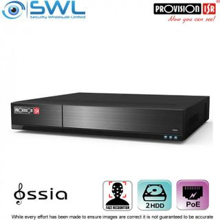 Provision-ISR NVR8-16400PFA (1U) 16CH FACE RECOGNITION NVR 16x PoE 2x HDD