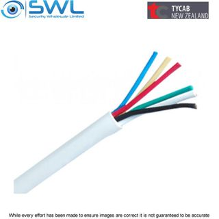 TYCAB 6 Core 0.22mm Tinned Security Cable 100m Reel