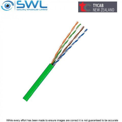 TYCAB Cat 5e UTP 305m Box GREEN