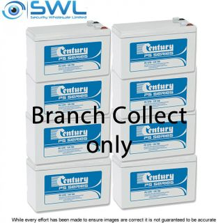 Century 12v 7.0 A/H Sealed Lead Acid Battery BOX of 8 Branch Collect