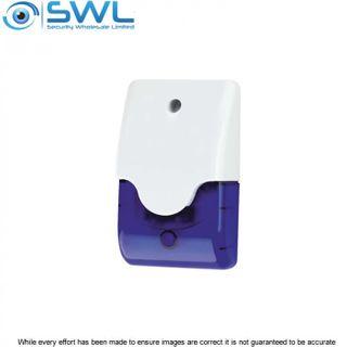 WP95 Mini Blue Combo Siren / Strobe 12VDC, 250mA, 105dB
