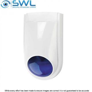 WP-06 External Mini Combo Siren/ Strobe, Blue Lens, 12VDC, 250mA, 105dB