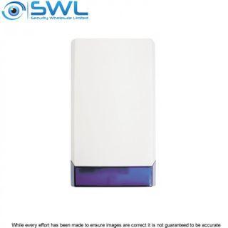 WP-18 External Large Combo Siren/ Strobe, Blue Lens, 12VDC, 116dB