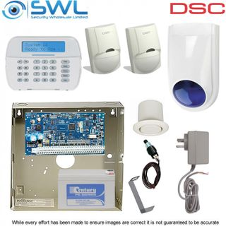 DSC Neo HS2032 Base Kit: Plug Pack, Tamper, HS2LCDPSN KP, 2x Sirens, 2x LC100
