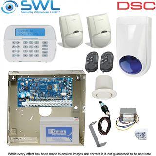 DSC Neo HS2032 RF Kit: Transformer, Tamper, RF LCD KP 2x Sirens, LC100 PIR, Rems