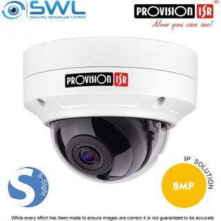Provision-ISR DAI+280IP5S36 S-Sight 8Mp Dome (A), DWDR, IR15M, IP66, IK10, 3.6mm