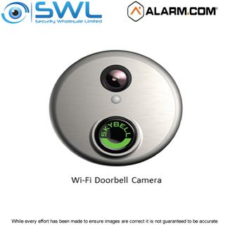 ALARM.COM Wi-Fi SkyBell Doorbell Camera 1080p 180° View, Satin Nickel