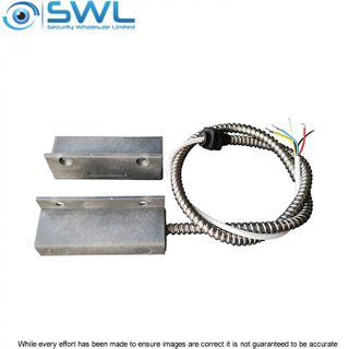 SWL NYLON SM Reed Switch: Heavy Duty, 65mm Gap, N/C, 50cm Armoured Fly