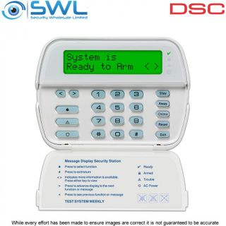 DSC PowerSeries: RFK5500 64 Zone LCD Keypad c/w 433MHz Wireless Receiver
