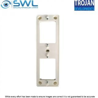 Trojan TDL-VDSM – Vertical Double Surface Mounting Block  - White