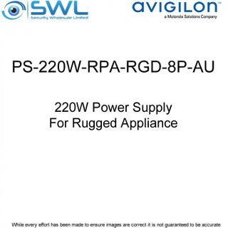 Avigilon PS-220W-RPA-RGD-8P-AU: 220W Power Supply For Rugged Appliance