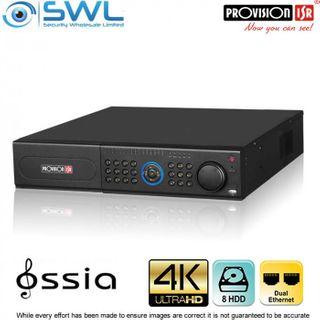 Provision-ISR NVR8-641600R (2U) 64CH 4K NVR No PoE. 2x NIC 8x HDD. No HDD Incl.