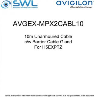 Avigilon AVGEX-MPX2CABL10:10m Unarmoured Cable c/w Barrier Cable Gland - H5EXPTZ