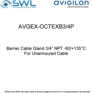 "Avigilon AVGEX-OCTEXB3/4P: Barrier Cable Gland 3/4"" NPT - For Unarmoured Cable"