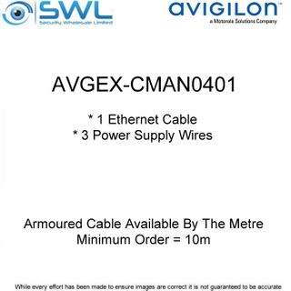 Avigilon AVGEX-CMAN0401: Armoured Cable Available By The Metre (min.10m)