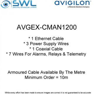 Avigilon AVGEX-CMAN1200: Armoured Cable Available By The Metre (min.10m)