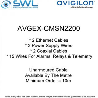 Avigilon AVGEX-CMSN2200: Unarmoured Cable Available By The Metre (min.10m)