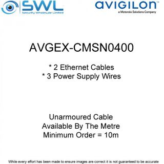 Avigilon AVGEX-CMSN0400: Unarmoured Cable Available By The Metre (min.10m)