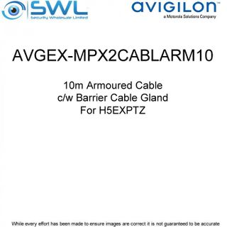Avigilon AVGEX-MPX2CABLARM10:H5EXPTZ Armoured Cable c/w Barrier Cable Gland -10m