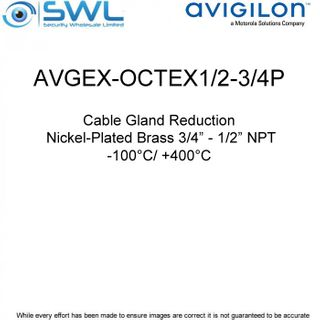 "Avigilon AVGEX-OCTEX1/2-3/4P: Cable Gland Reduction, Nickel-Plated Brass 3/4"" -"