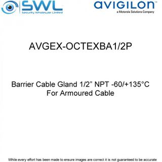 "Avigilon AVGEX-OCTEXBA1/2P: Barrier Cable Gland 1/2"" NPT - For Armoured Cable"