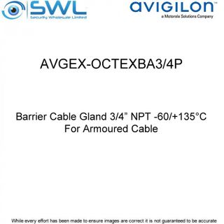 "Avigilon AVGEX-OCTEXBA3/4P: Barrier Cable Gland 3/4"" NPT - For Armoured Cable"